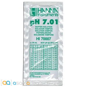 Hanna Instruments pH 7.01 Calibration Solution 20 ml Sachet - ASAP Aquarium