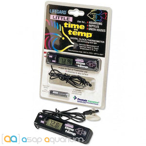 Lifegard Aquatics Little Time or Temp Digital Aquarium Thermometer - ASAP Aquarium