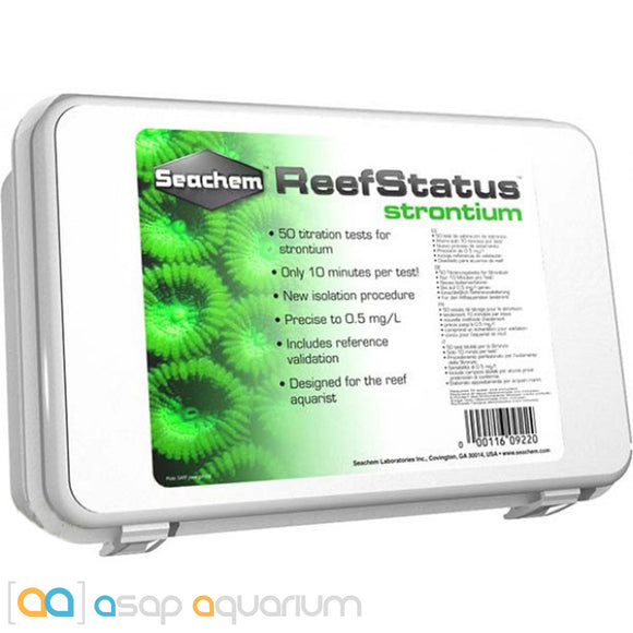 Seachem Reef Status Strontium Test Kit 50 Tests - ASAP Aquarium