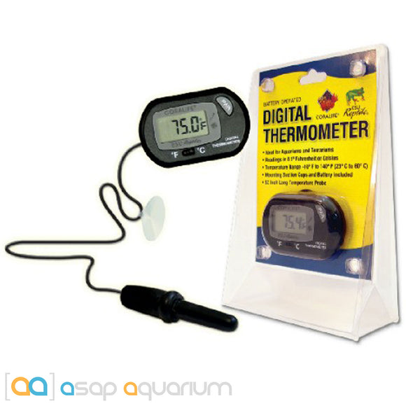 Coralife Digital Aquarium Thermometer Battery Operated - ASAP Aquarium  - 1