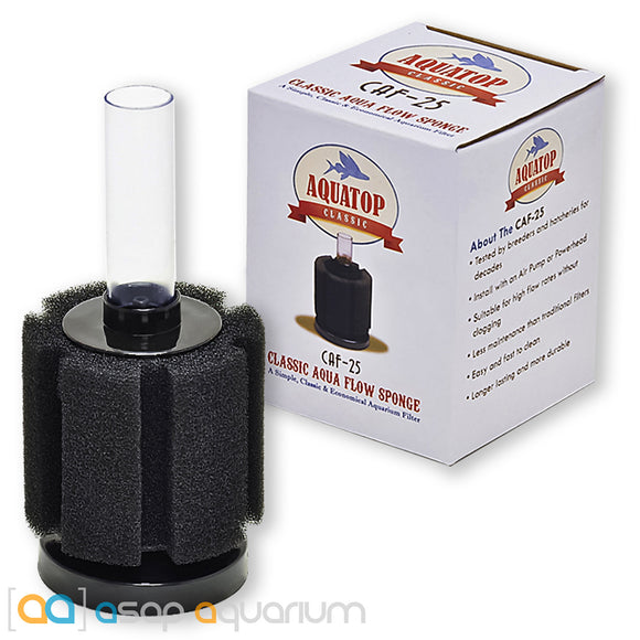 AquaTop CAF-25 Internal Sponge Filter 25 Gal - ASAP Aquarium