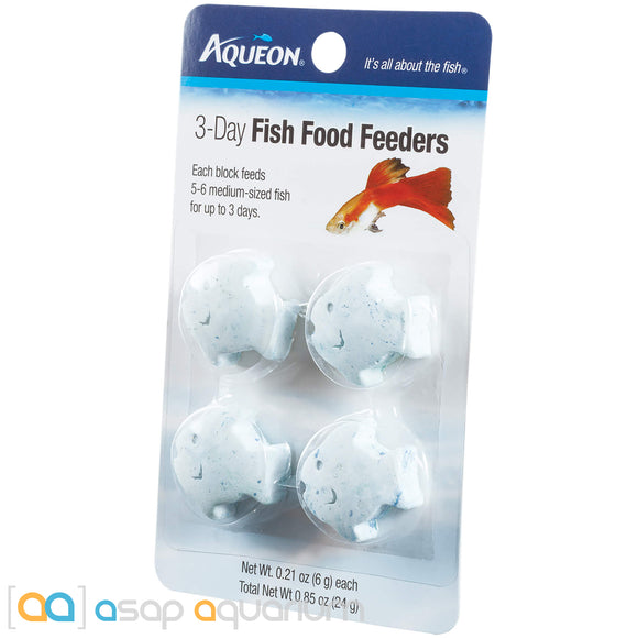 Aqueon 3-Day Tropical Freshwater Fish Food Feeder 4pk - ASAP Aquarium