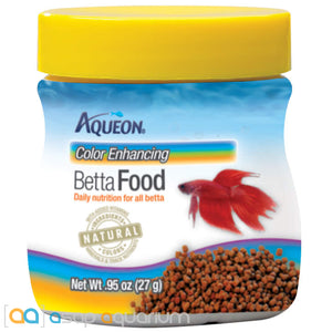 Aqueon Color Enhancing Betta Fish Food .95oz Jar - ASAP Aquarium