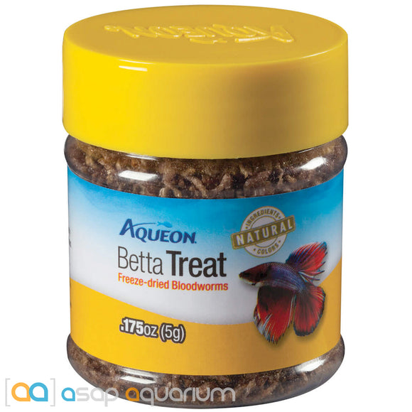 Aqueon Betta Treat Freeze-Dried Bloodworms 0.175oz Jar - ASAP Aquarium
