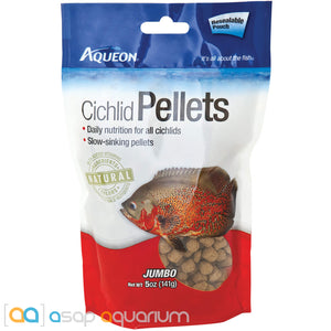 Aqueon Cichlid Pellet Jumbo Fish Food 5oz Bag - ASAP Aquarium