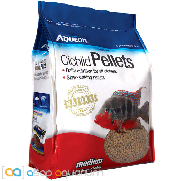 Aqueon Cichlid Pellet Medium Fish Food 25oz Bag - ASAP Aquarium