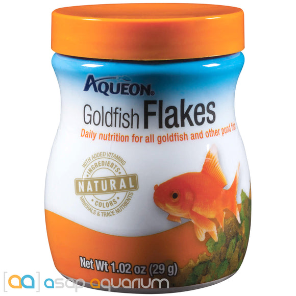 Aqueon Goldfish Flakes Fish Food 1.02oz Jar - ASAP Aquarium
