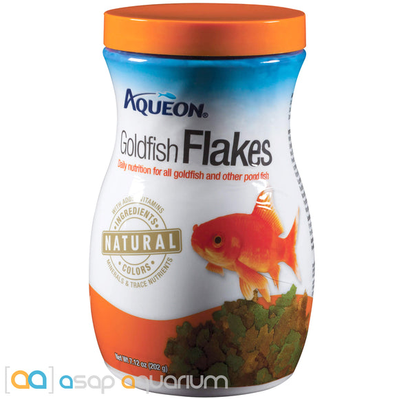 Aqueon Goldfish Flakes Fish Food 7.12oz Jar - ASAP Aquarium