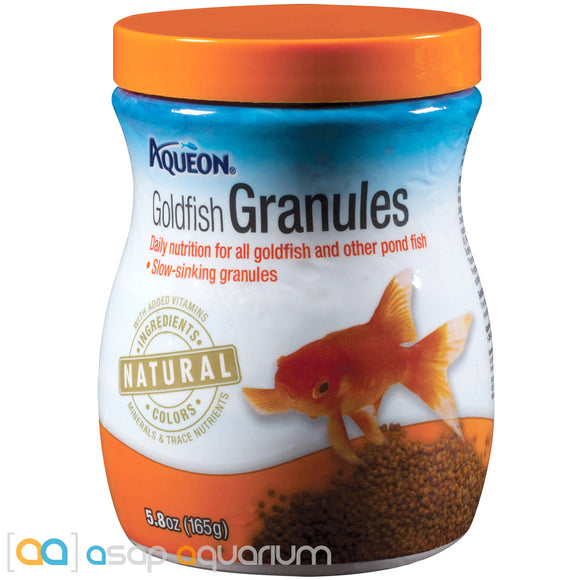 Aqueon Goldfish Granules Fish Food 5.8oz Jar - ASAP Aquarium