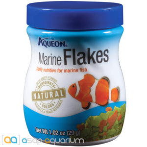 Aqueon Marine Flakes Fish Food 1.02oz Jar - ASAP Aquarium