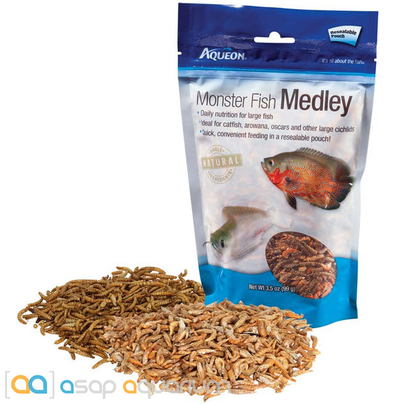 Aqueon Monster Fish Medley Fish Food 3.5oz Bag - ASAP Aquarium