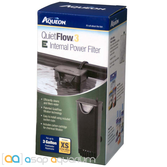 Aqueon QuietFlow 3 E Internal Power Filter 3gal XS - ASAP Aquarium