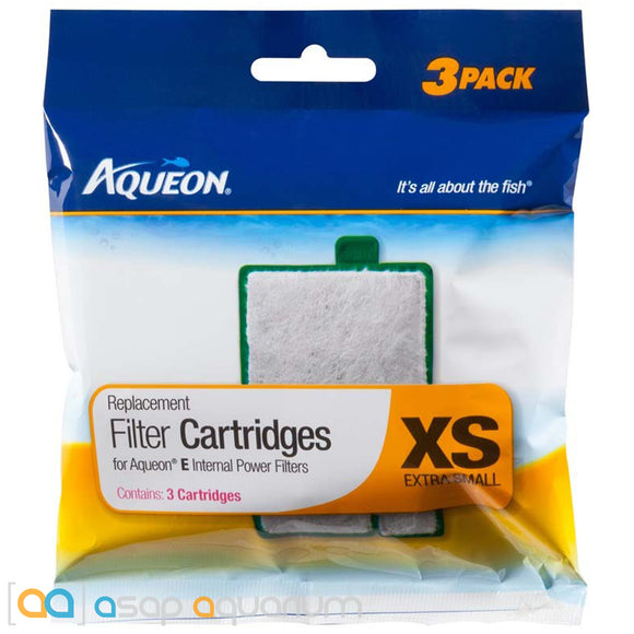 Aqueon QuietFlow E Replacement Filter Cartridges X-Small 3pk - ASAP Aquarium
