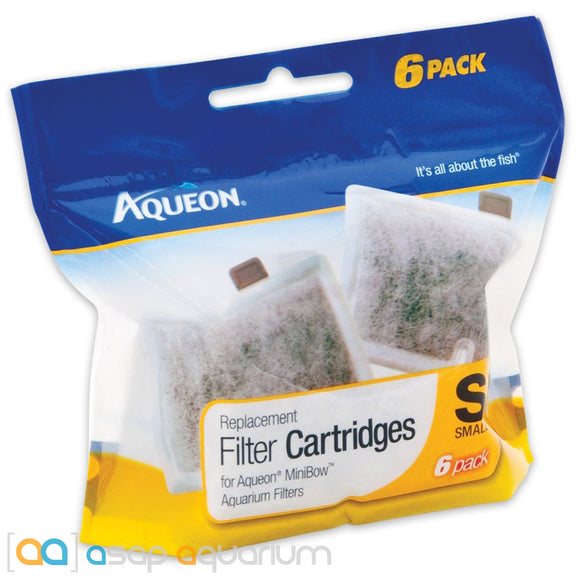 Aqueon QuietFlow E Replacement Filter Cartridges Small 6pk - ASAP Aquarium
