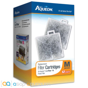 Aqueon QuietFlow Replacement Filter Cartridges Medium 12pk - ASAP Aquarium