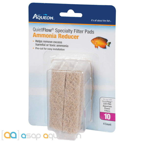 Aqueon QuietFlow Size 10 Specialty Filter Pads Ammonia Reducer 4pk - ASAP Aquarium