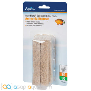 Aqueon QuietFlow Size 30/50 Specialty Filter Pads Ammonia Reducer 4pk - ASAP Aquarium