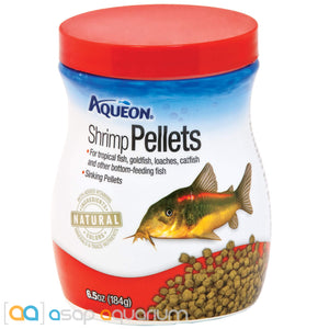 Aqueon Shrimp Pellets Fish food 6.5oz Jar - ASAP Aquarium