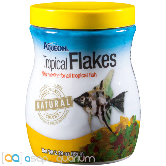 Aqueon Tropical Flakes Fish Food 2.29oz Jar - ASAP Aquarium