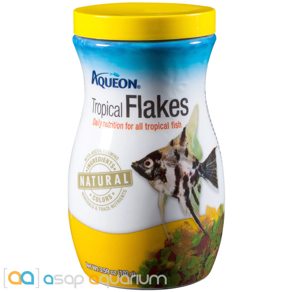 Aqueon Tropical Flakes Fish Food 3.59oz Jar - ASAP Aquarium
