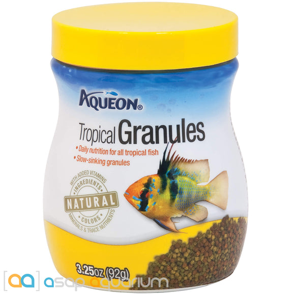 Aqueon Tropical Granules Fish Food 3.25oz Jar - ASAP Aquarium