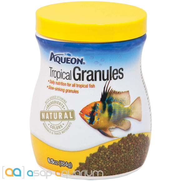 Aqueon Tropical Granules Fish Food 6.5oz Jar - ASAP Aquarium