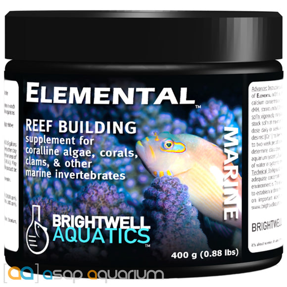 Brightwell Aquatics Elemental Dry Reef Building Supplement 400 grams - ASAP Aquarium