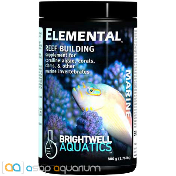 Brightwell Aquatics Elemental Dry Reef Building Supplement 800 grams - ASAP Aquarium