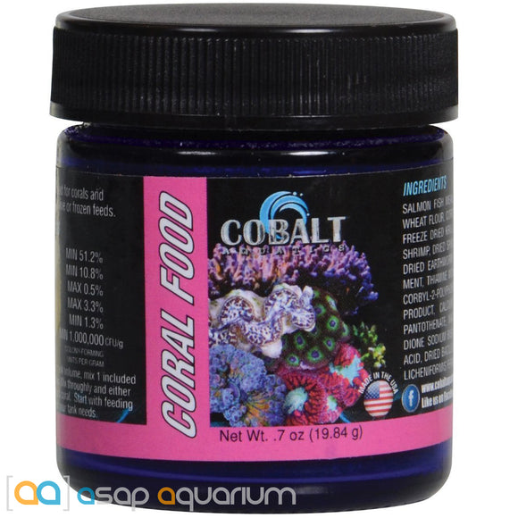 Cobalt Aquatics Coral Food Powder - 0.7 oz. - ASAP Aquarium