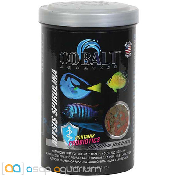 Cobalt Aquatics Mysis Spirulina Flakes - 5 oz. Fish Food - ASAP Aquarium