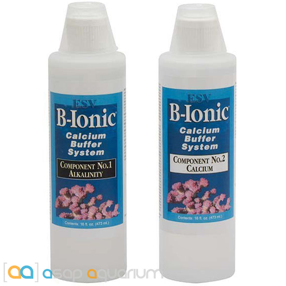 E.S.V. B-Ionic 2-Part Calcium Buffer 32oz (16oz each bottle) - ASAP Aquarium