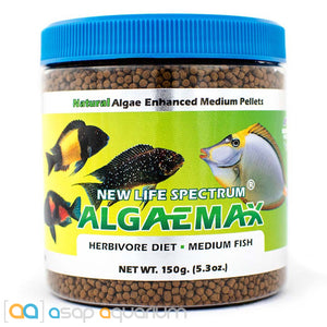 New Life Spectrum ALGAEMAX Medium Pellet 150g Fish Food - ASAP Aquarium