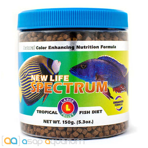 New Life Spectrum TROPICAL FISH Large Pellet 150g Fish Food - ASAP Aquarium