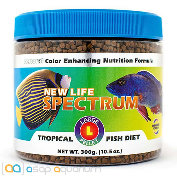 New Life Spectrum TROPICAL FISH Large Pellet 300g Fish Food - ASAP Aquarium