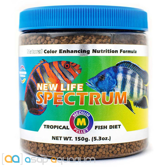 New Life Spectrum TROPICAL FISH Medium Pellet 150g Fish Food - ASAP Aquarium