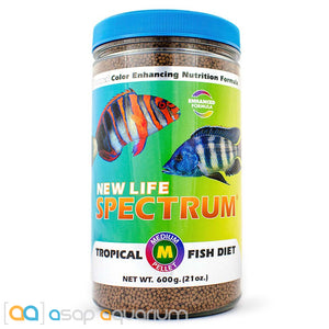 New Life Spectrum TROPICAL FISH Medium Pellet 600g Fish Food - ASAP Aquarium