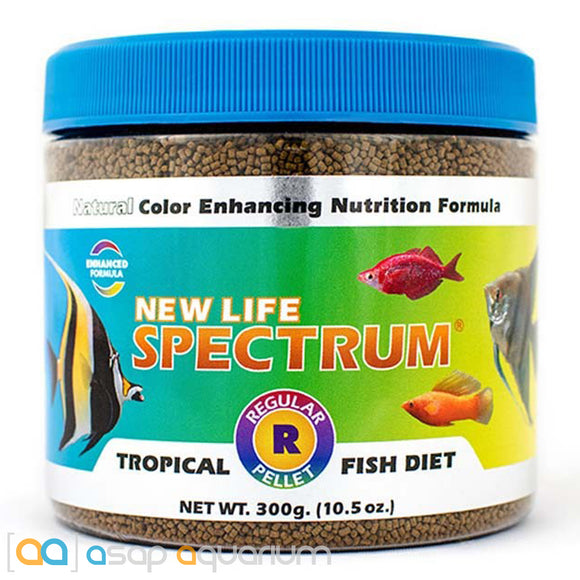New Life Spectrum TROPICAL FISH Regular Pellet 300g Fish Food - ASAP Aquarium