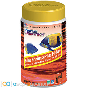 Ocean Nutrition Brine Shrimp Plus Flakes 154 grams (5.5 oz) Fish Food - ASAP Aquarium