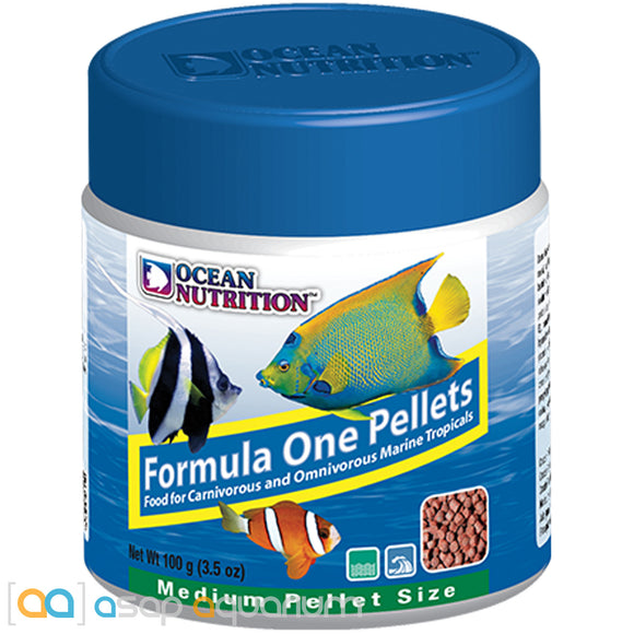 Ocean Nutrition Formula One Pellets MEDIUM 100 grams (3.5 oz) Fish Food