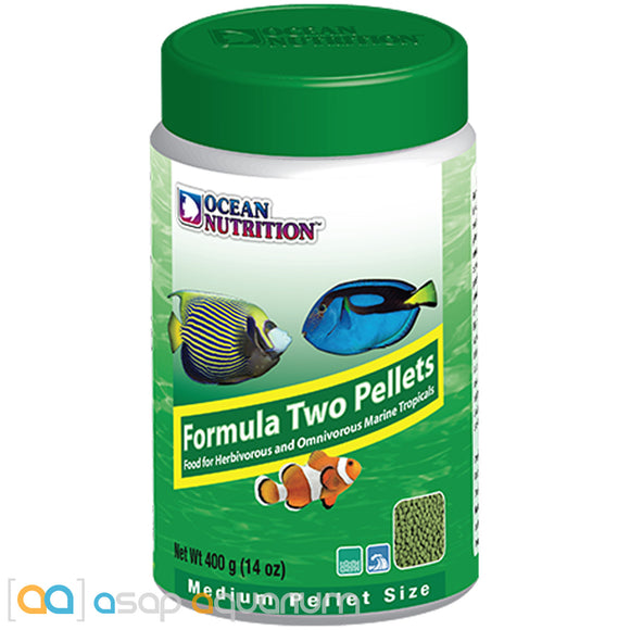 Ocean Nutrition Formula Two Pellets MEDIUM 400 grams (14 oz) Fish Food