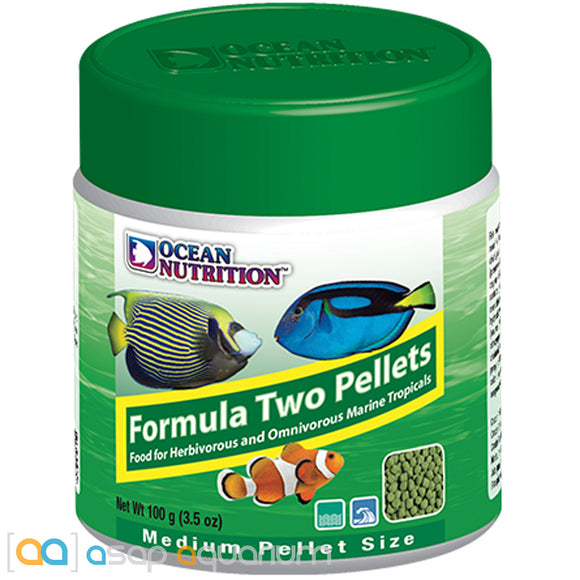 Ocean Nutrition Formula Two Pellets MEDIUM 100 grams (3.5 oz) Fish Food - ASAP Aquarium