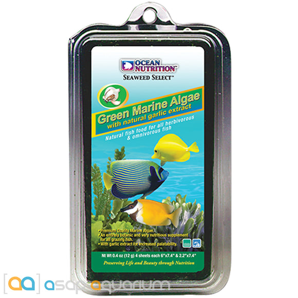 Ocean Nutrition Green Marine Algae 12 grams (4 sheets) Fish Food