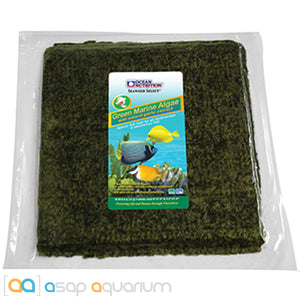Ocean Nutrition Green Marine Algae 150 grams (50 sheets) Fish Food - ASAP Aquarium