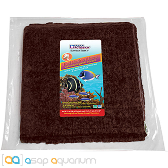 Ocean Nutrition Red Marine Algae 150 grams (50 sheets) Fish Food - ASAP Aquarium