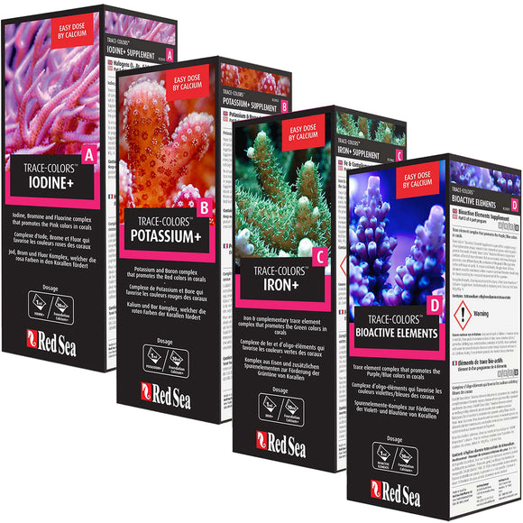 Red Sea Coral Colors ABCD Pro Pack 4x 500mL Bottles
