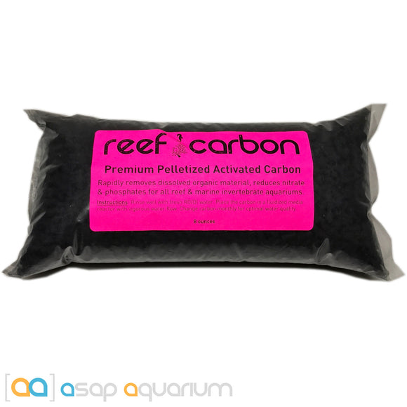 Reef Carbon 8 oz. Premium Activated Pelletized Carbon for Reef and Marine Invertebrate Aquariums - ASAP Aquarium  - 1