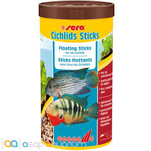 Sera Cichlids Sticks 7.4 oz (1000 mL) Floating Fish Food - ASAP Aquarium