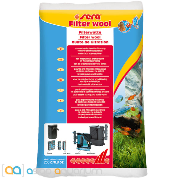 Sera Filter Wool 250 grams (8.8 oz.) - ASAP Aquarium