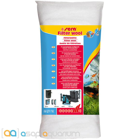 Sera Filter Wool 500 grams (1.1 lb.) - ASAP Aquarium