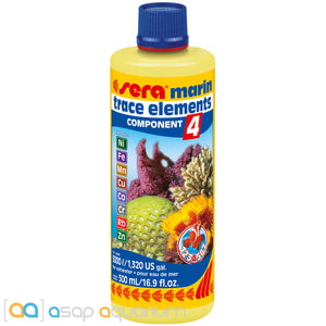 Sera Marin Component 4 Trace Elements Kationics 500 ml (16.9 fl. oz.) - ASAP Aquarium